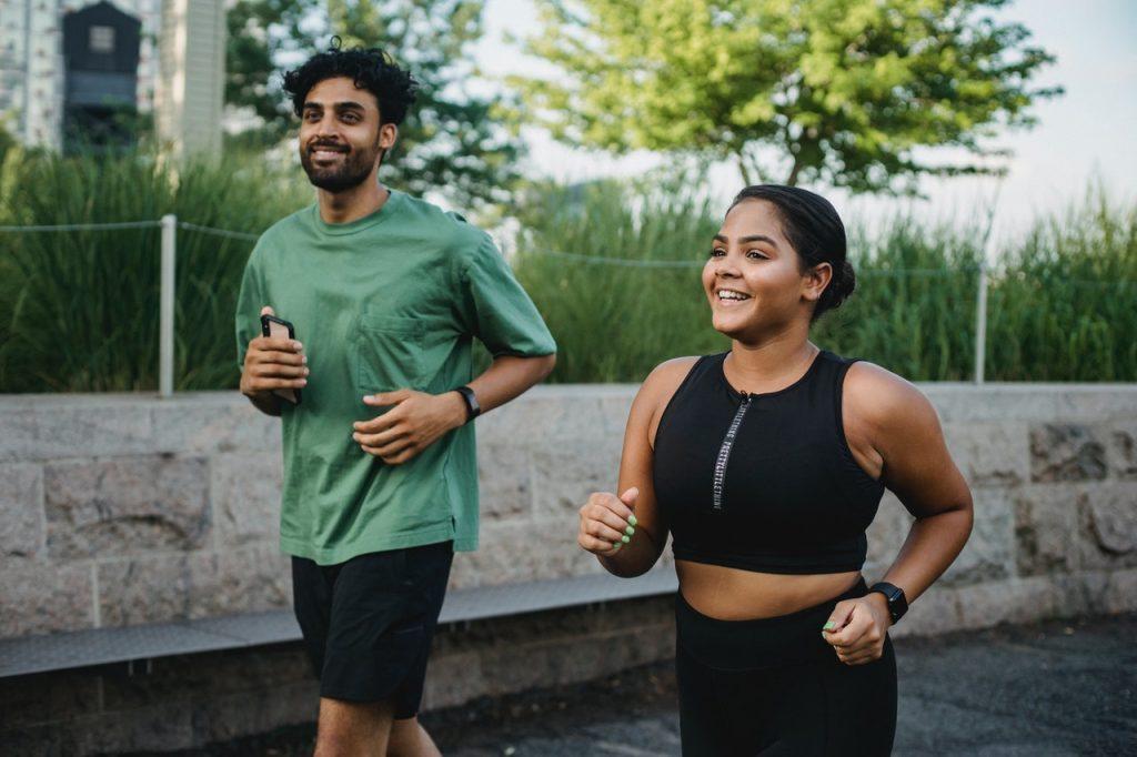 Friends enjoying a run